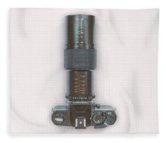 Yashica Fx-3 With 90mm Lens Fleece Blanket