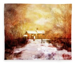 Ye Olde Inn Fleece Blanket