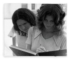 Yearbook Signing, 1972, Part 1 Fleece Blanket