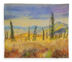 Yellow Alaska Fleece Blanket