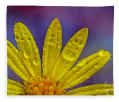 Yellow And Dew Fleece Blanket