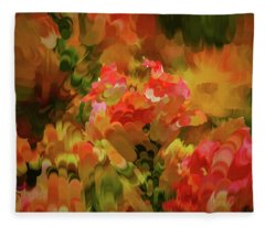 Yellow And Orange #h6 Fleece Blanket