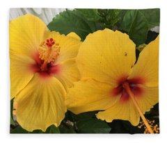 Yellow Beauties Fleece Blanket