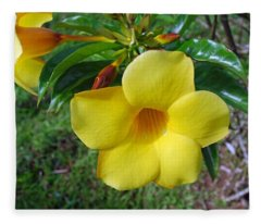 Yellow Beauty Fleece Blanket