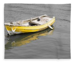Yellow Boat Fleece Blanket