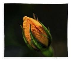 Yellow Bud Fleece Blanket