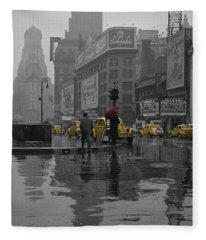 Yellow Cabs New York Fleece Blanket