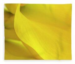 Yellow Calla Lily Fleece Blanket