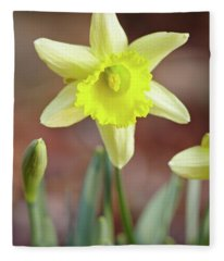 Yellow Daffodil Fleece Blanket