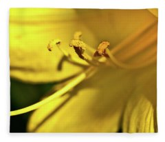 Yellow Daylily Fleece Blanket