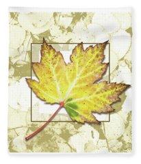 Yellow Fall Fleece Blanket