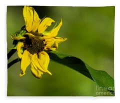 Yellow Flower 1 Fleece Blanket