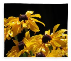 Yellow Flower 2 Fleece Blanket