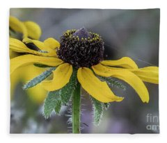 Yellow Flower 6 Fleece Blanket