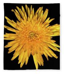 Yellow Flower Macro Fleece Blanket
