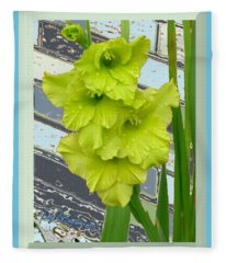 Yellow Gladiolas Fleece Blanket
