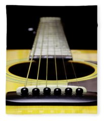 Yellow Guitar 17 Fleece Blanket