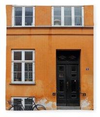The Orange House Copenhagen Denmark Fleece Blanket