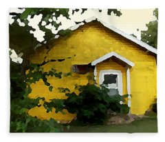 Yellow House In Shantytown  Fleece Blanket