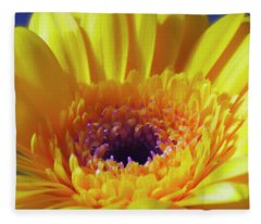 Yellow Joy And Inspiration Fleece Blanket