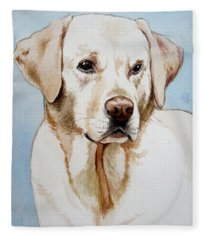 Yellow Lab Fleece Blanket