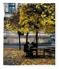Yellow Lunch Fleece Blanket