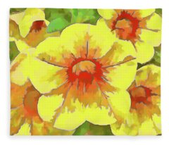 Yellow Million Bells Fleece Blanket