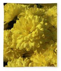 Yellow Mums Fleece Blanket