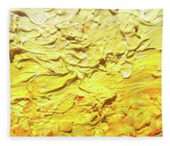 Yellow Ombre Abstract Contemporary Style Minimalist Monochrome Design Bold Color Chic Oil Painting   Fleece Blanket