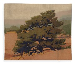 Yellow Pine Fleece Blanket