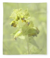 Yellow Rattle With Texture Fleece Blanket