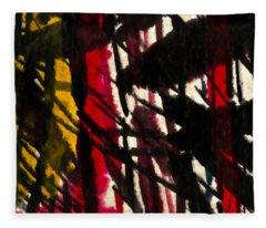 Yellow Red Bamboo Fleece Blanket