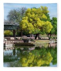 Yellow Reflection Fleece Blanket