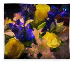 Yellow Rose Of Texas Fleece Blanket