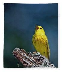 Yellow Sinatra Fleece Blanket