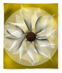 Yellow Soft Flower Fleece Blanket