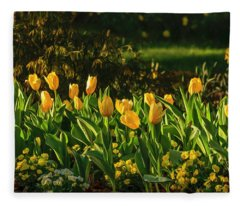 Yellow Spring Fever Fleece Blanket