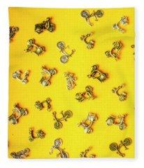 Yellow Summer Transport Fleece Blanket