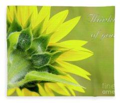 Yellow Sunflower, Thinking Of You Fleece Blanket