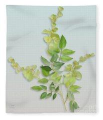 Yellow Tiny Flowers Fleece Blanket
