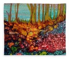 Yellow Trees Fleece Blanket