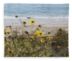 Yellow Wildflowers- Art By Linda Woods Fleece Blanket
