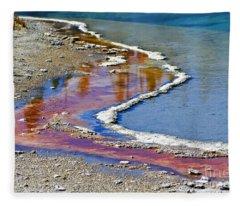 Yellowstone Abstract I Fleece Blanket