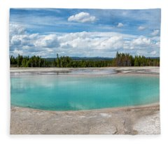 Yellowstone Colors #11 Fleece Blanket
