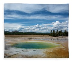 Yellowstone Colors #12 Fleece Blanket