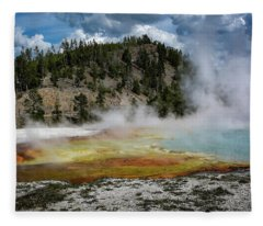 Yellowstone Colors #13 Fleece Blanket