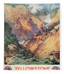 Yellowstone Park Fleece Blanket