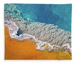 Yellowstone Pool Fleece Blanket