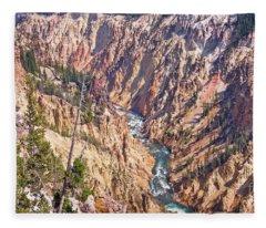 Yellowstone River Fleece Blanket