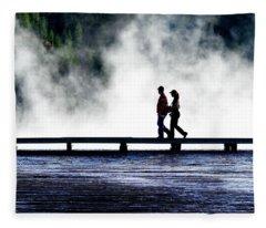 Yellowstone Walkers Fleece Blanket